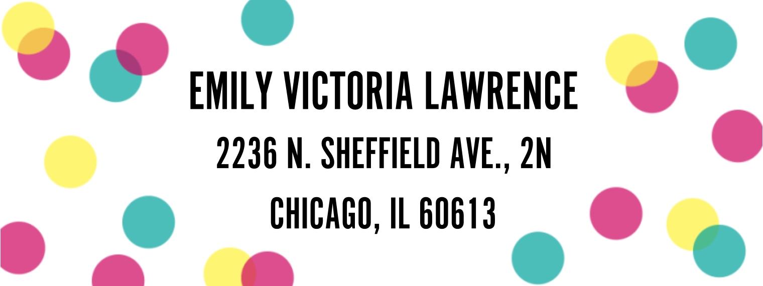 Everyday Return Address Labels, Card & Stationery -Polka Dots