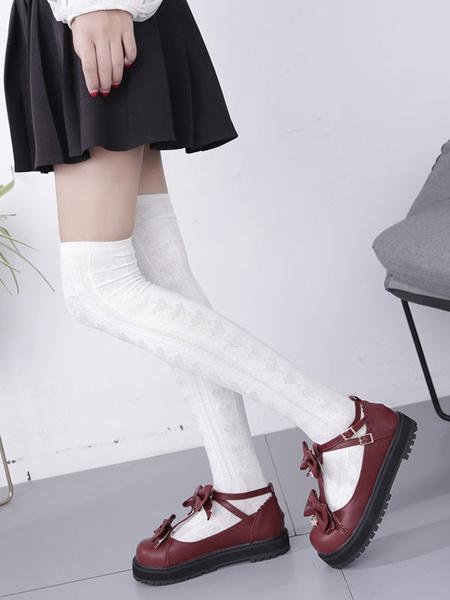 Milanoo Sweet Lolita Shoes Starlet Bow PU Lolita Footwear