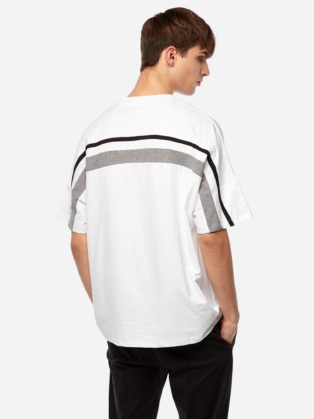 Yoins White Back Stripes Crew Neck Short Sleeve Men's T-Shirt