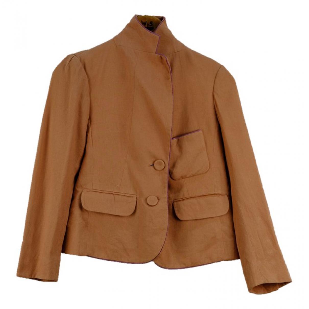 Sonia Rykiel N Brown Linen jacket for Women S International