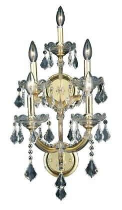 2800W5G/SA 2800 Maria Theresa Collection Wall Sconce W12in H29.5in E11.5in Lt: 5 Gold Finish (Swarovski Spectra