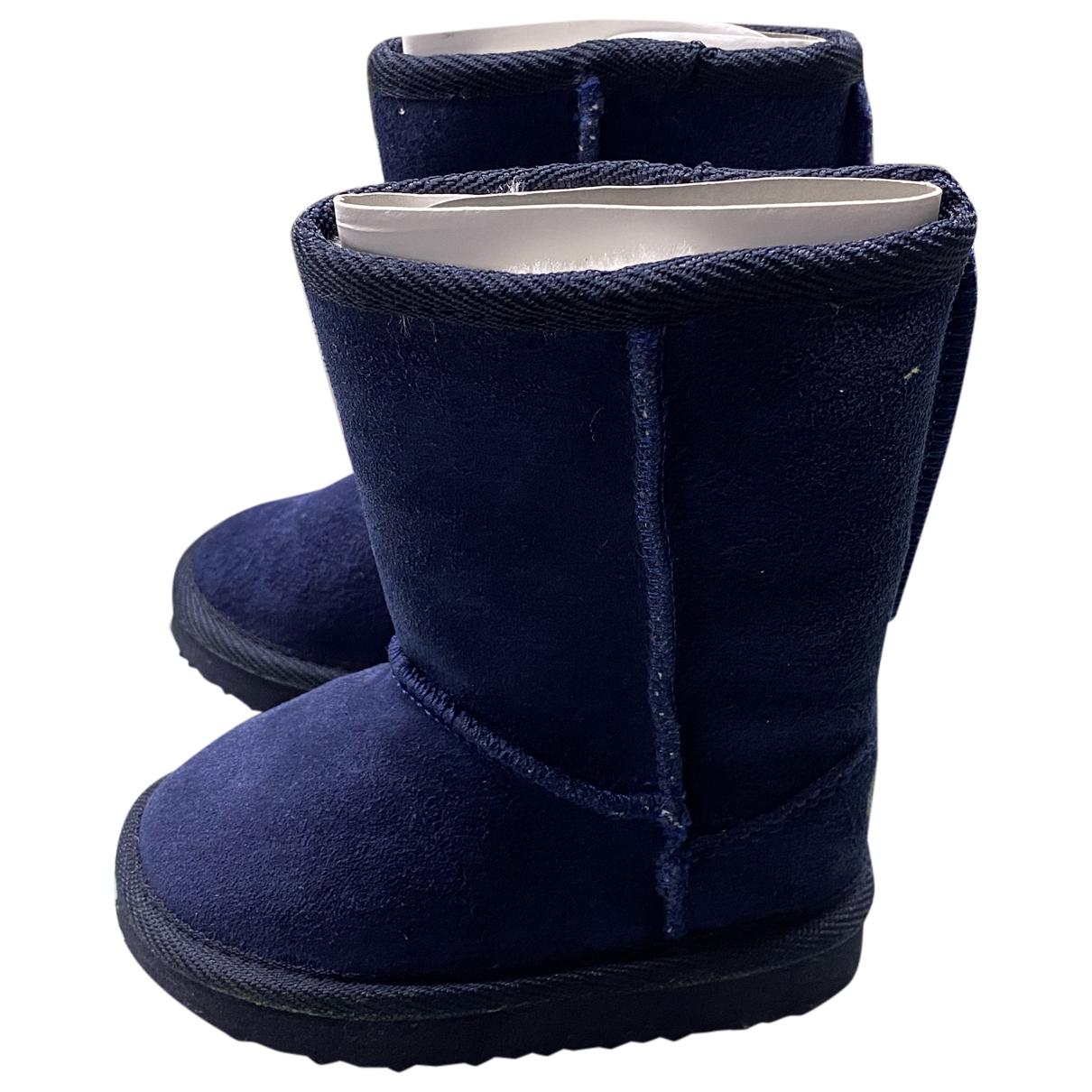 Superga - Premiers pas   pour enfant en suede - bleu