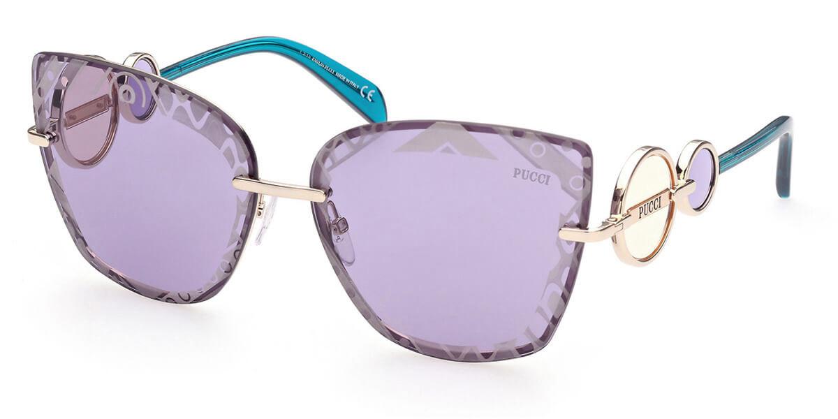 Emilio Pucci EP0155 32Y Women's Sunglasses Gold Size 65