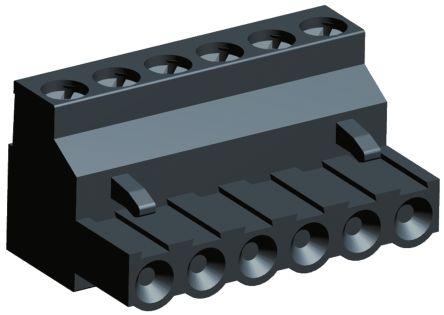 TE Connectivity , Buchanan 5.08mm Pitch, 6 Way Pluggable Terminal Block, Black