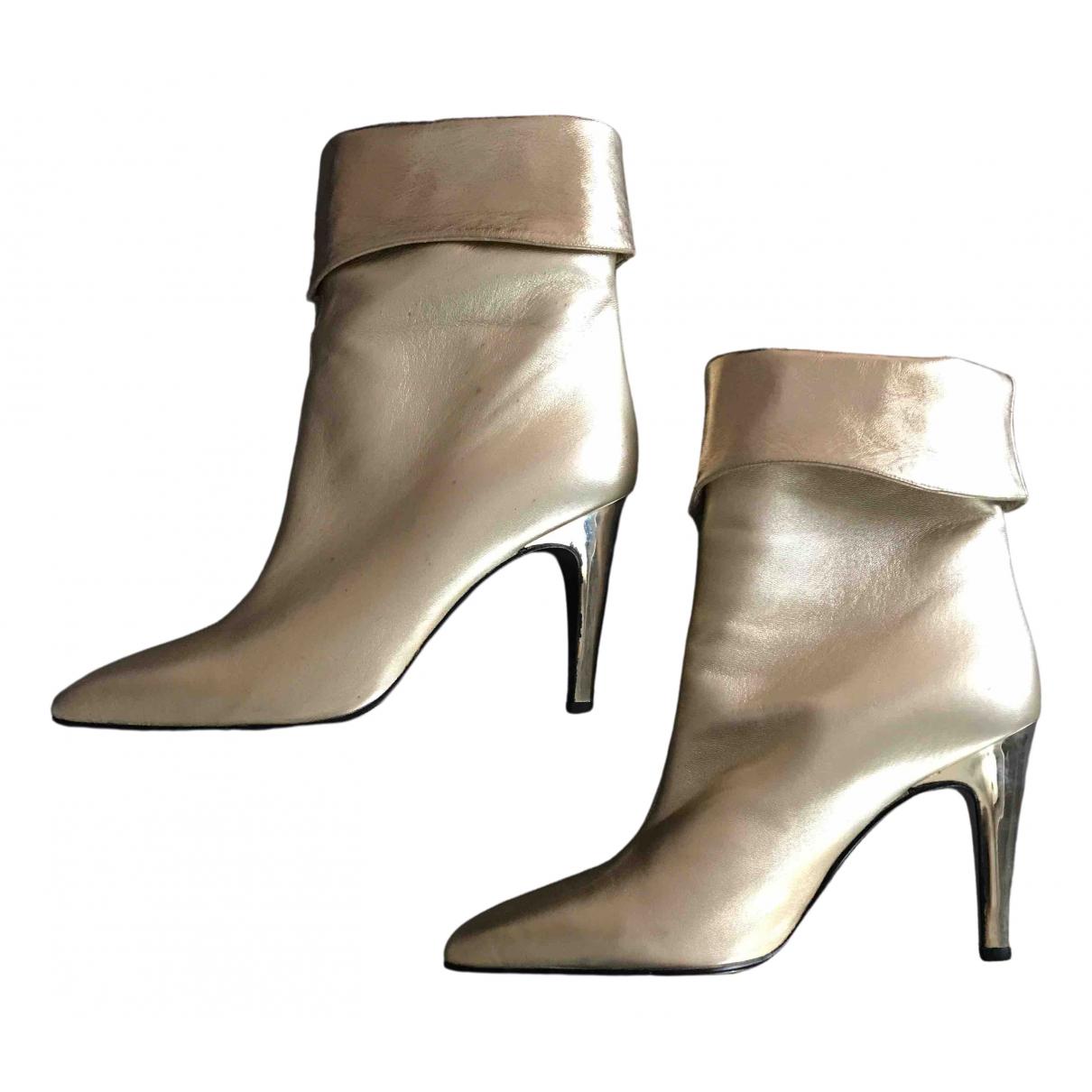 Gianni Versace \N Stiefeletten in  Gold Leder