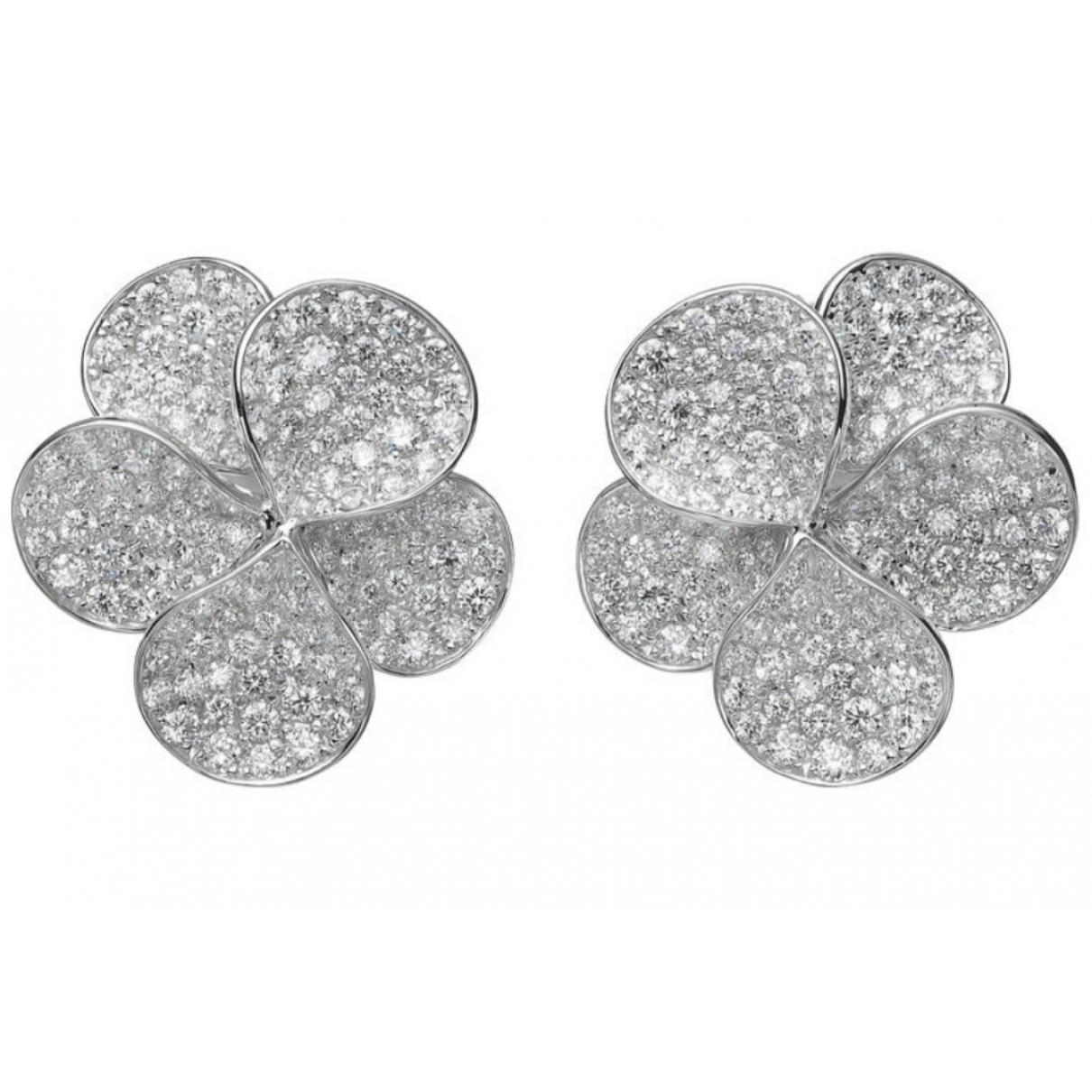 Non Signé / Unsigned Motifs Floraux White White gold Earrings for Women \N