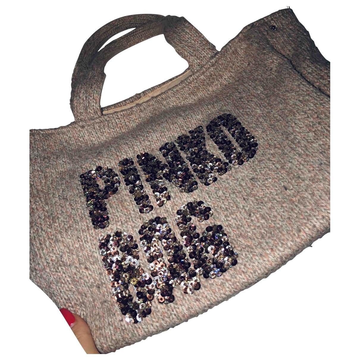 Pinko - Sac a main Love Bag pour femme en laine - beige