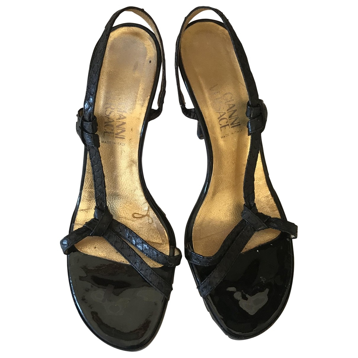 Gianni Versace \N Black Exotic leathers Sandals for Women 36.5 EU