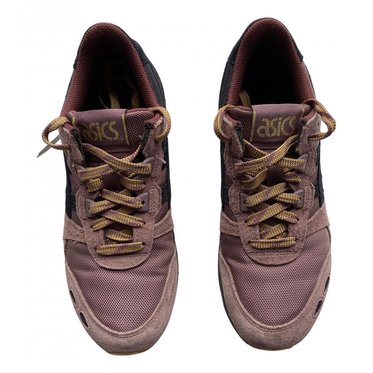 Asics N Purple Leather Trainers for Women 39.5 EU