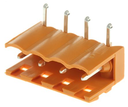Weidmuller , OMNIMATE SL, 4 Way, 1 Row, Right Angle PCB Header (5)