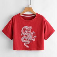 Chinese Dragon Crop Tee