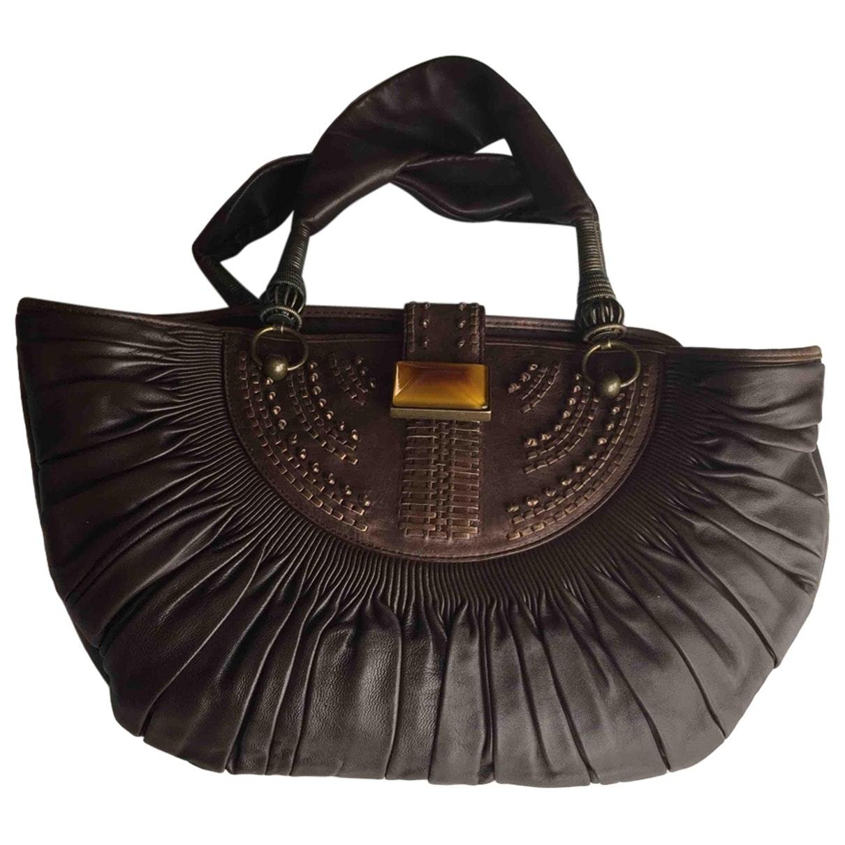 Dior \N Handtasche in  Braun Leder