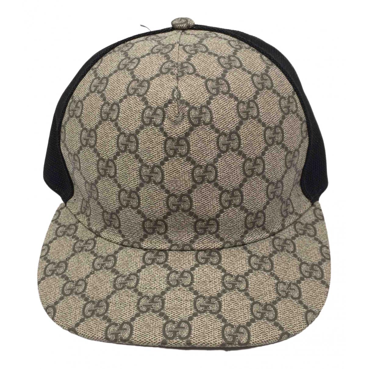 Gucci - Chapeau & Bonnets   pour homme en toile - gris