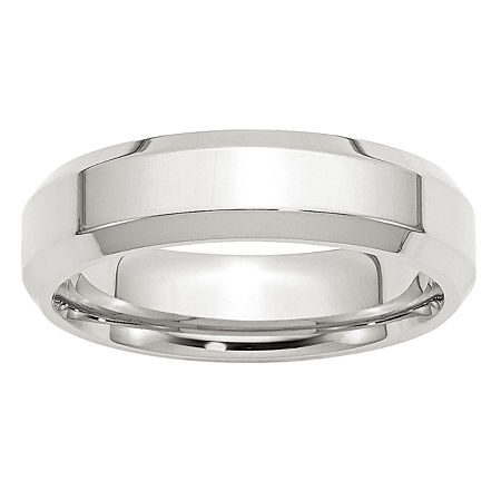 Personalized 6MM Sterling Silver Wedding Band, 12 , No Color Family