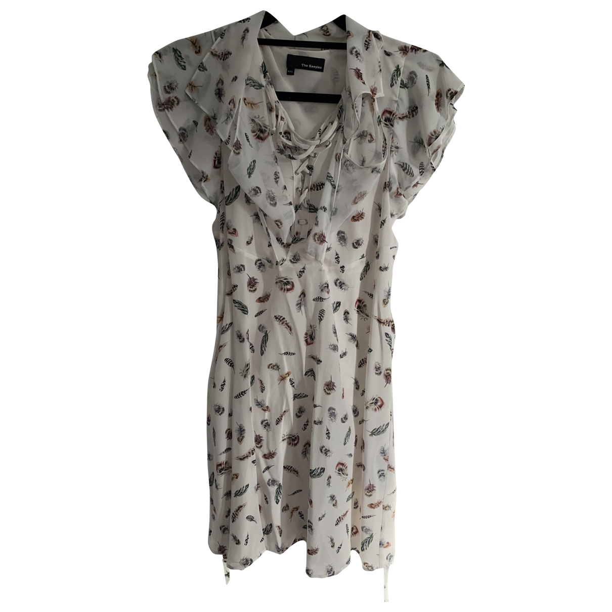 The Kooples - Robe   pour femme en soie - blanc