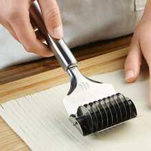 1 pieza cortador de fideos de acero inoxidable