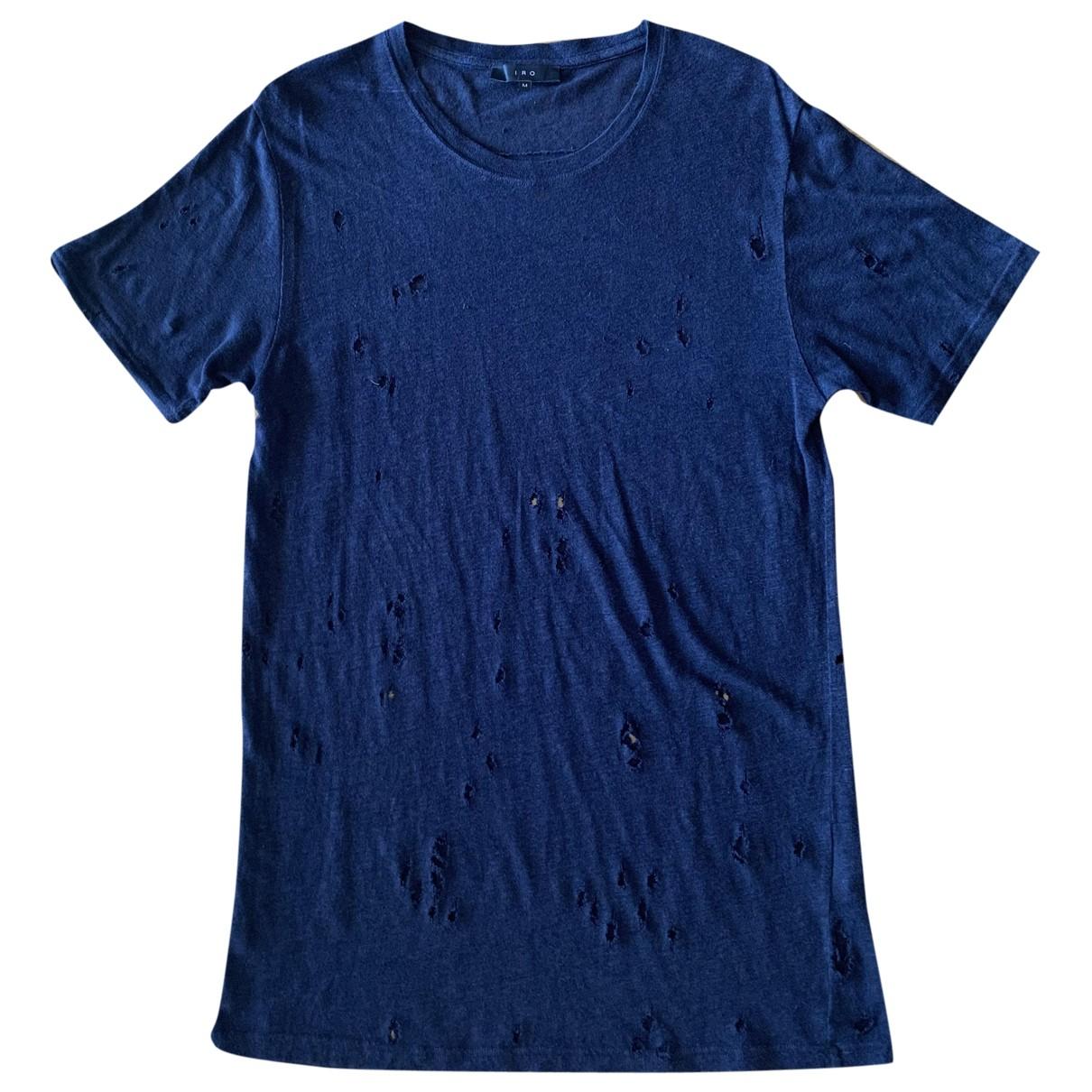 Iro Spring Summer 2019 Navy Linen T-shirts for Men M International