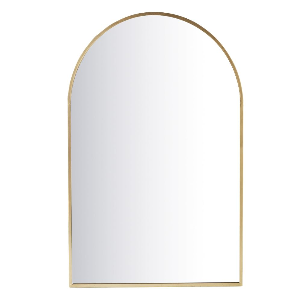 Spiegel aus Metall, goldfarben 77x120