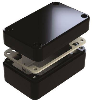 Deltron 486, Black Aluminium Enclosure, IP66, Shielded, 130 x 80 x 60mm