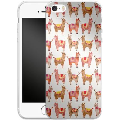 Apple iPhone SE Silikon Handyhuelle - Alpacas von Cat Coquillette