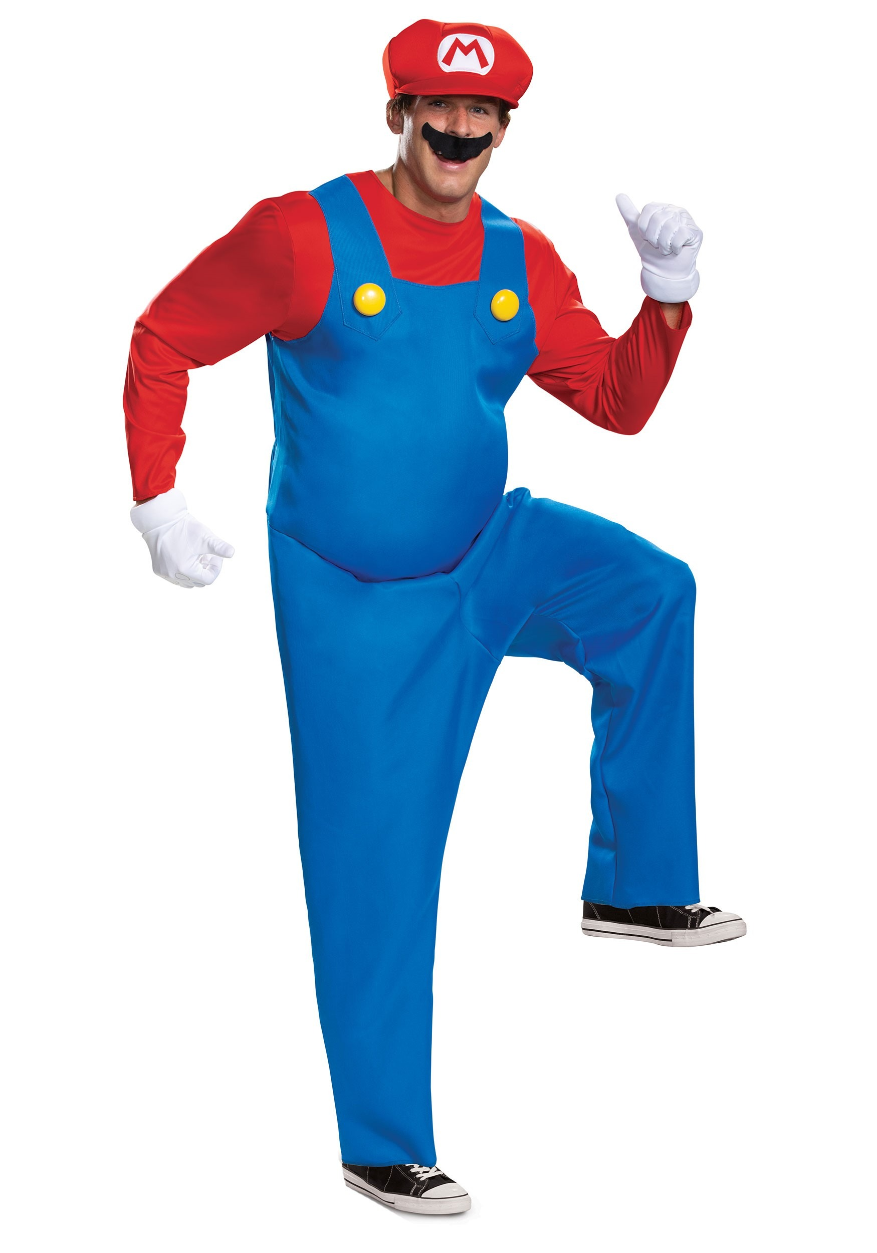Nintendo Super Mario Brothers Mens Mario Deluxe Costume