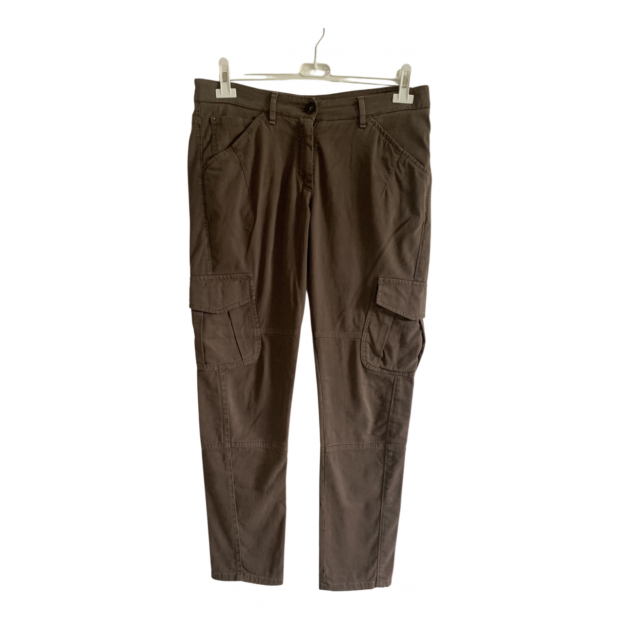 Brunello Cucinelli N Brown Cotton Trousers for Women 44 IT