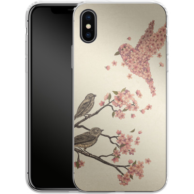 Apple iPhone X Silikon Handyhuelle - Blossom Bird von Terry Fan
