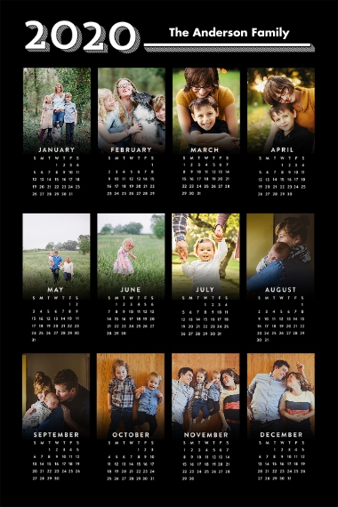 Calendar 12x18 Adhesive Poster, Home Décor -Graphic Year