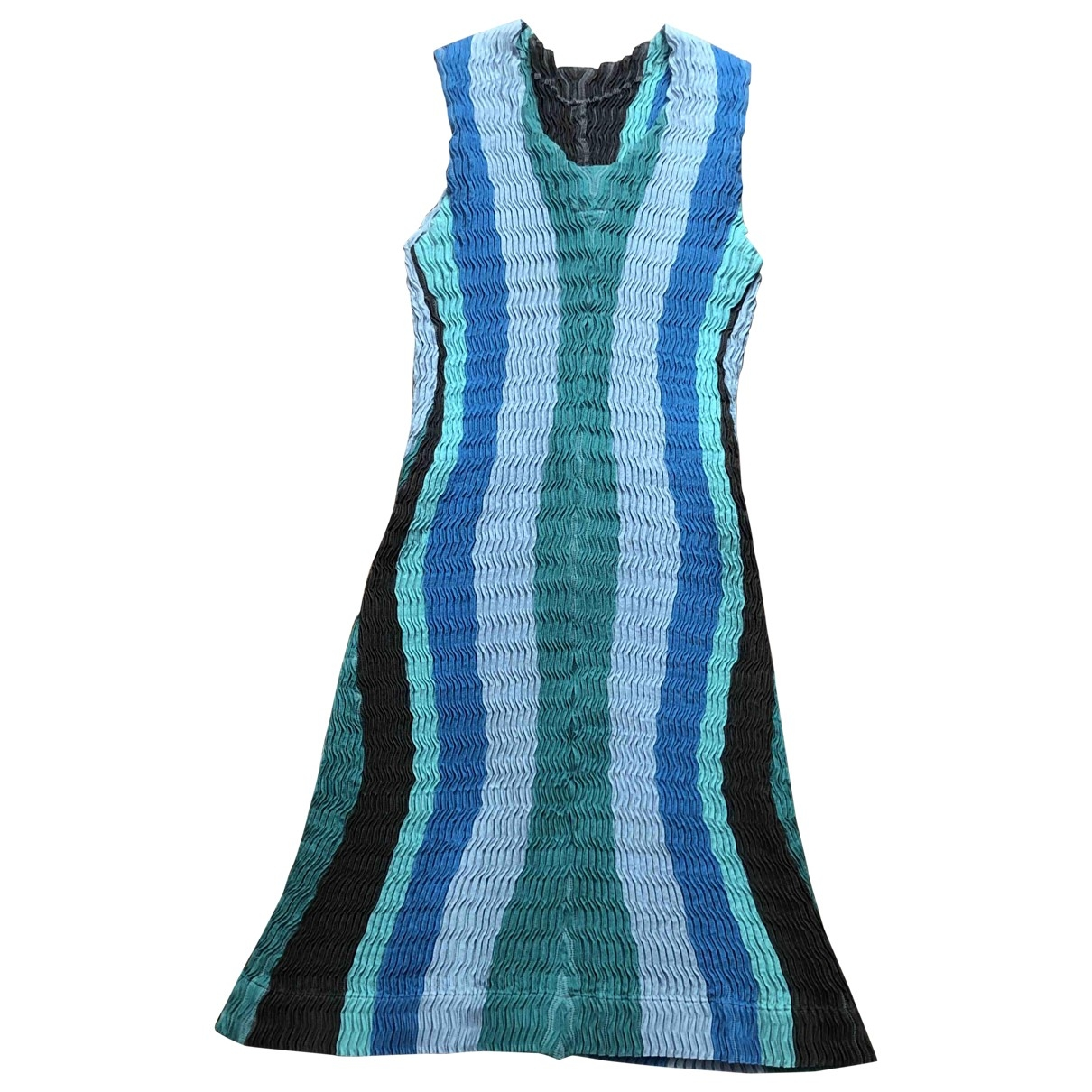 Issey Miyake \N Kleid in  Bunt Baumwolle - Elasthan