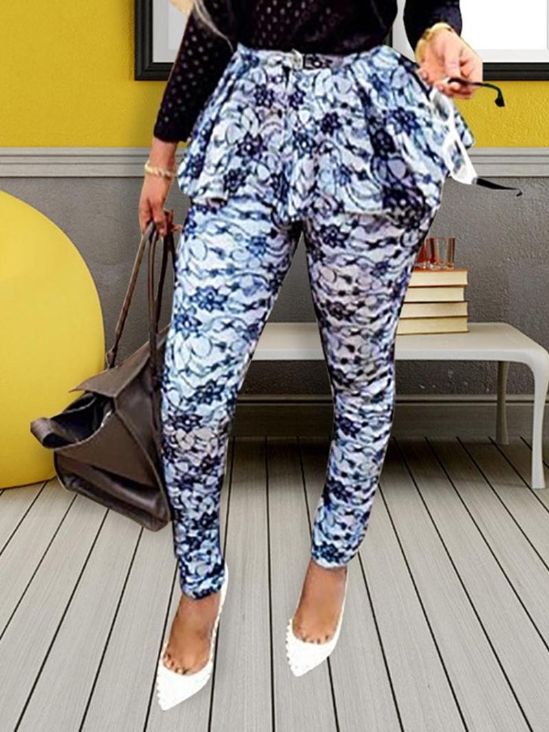 Ericdress Print Skinny Full Length Casual Pants