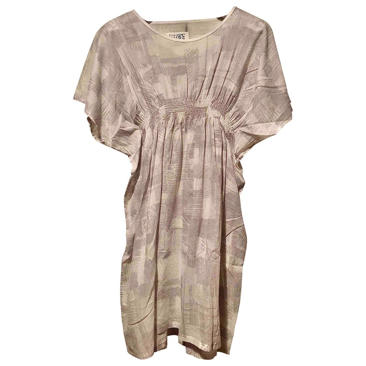 Mm6 \N White Cotton dress for Women 44 IT