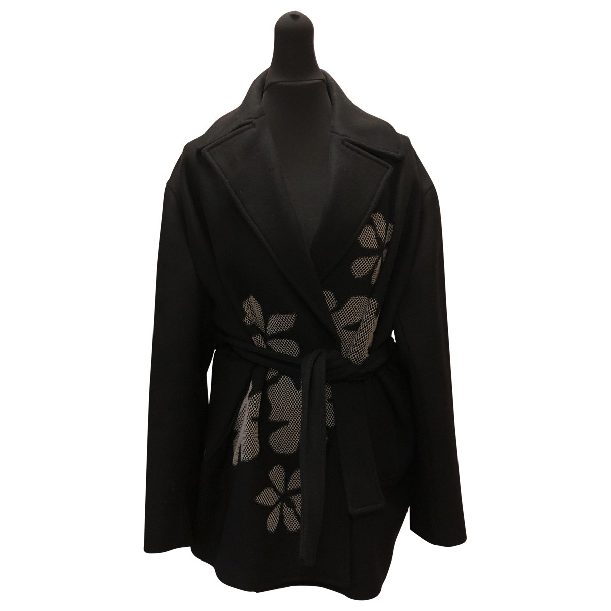Bottega Veneta - Manteau   pour femme en laine - noir