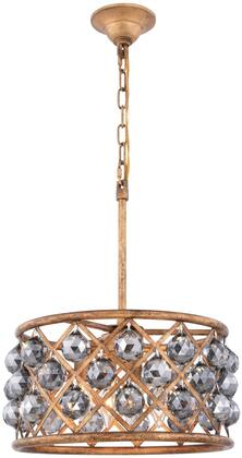 1214D16GI-SS/RC 1214 Madison Collection Pendant Ceiling Light D:16In H:9In Lt:4 Golden Iron Finish (Royal Cut