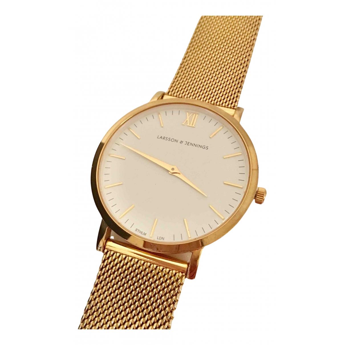 Larsson & Jennings \N Uhr in  Gold Vergoldet