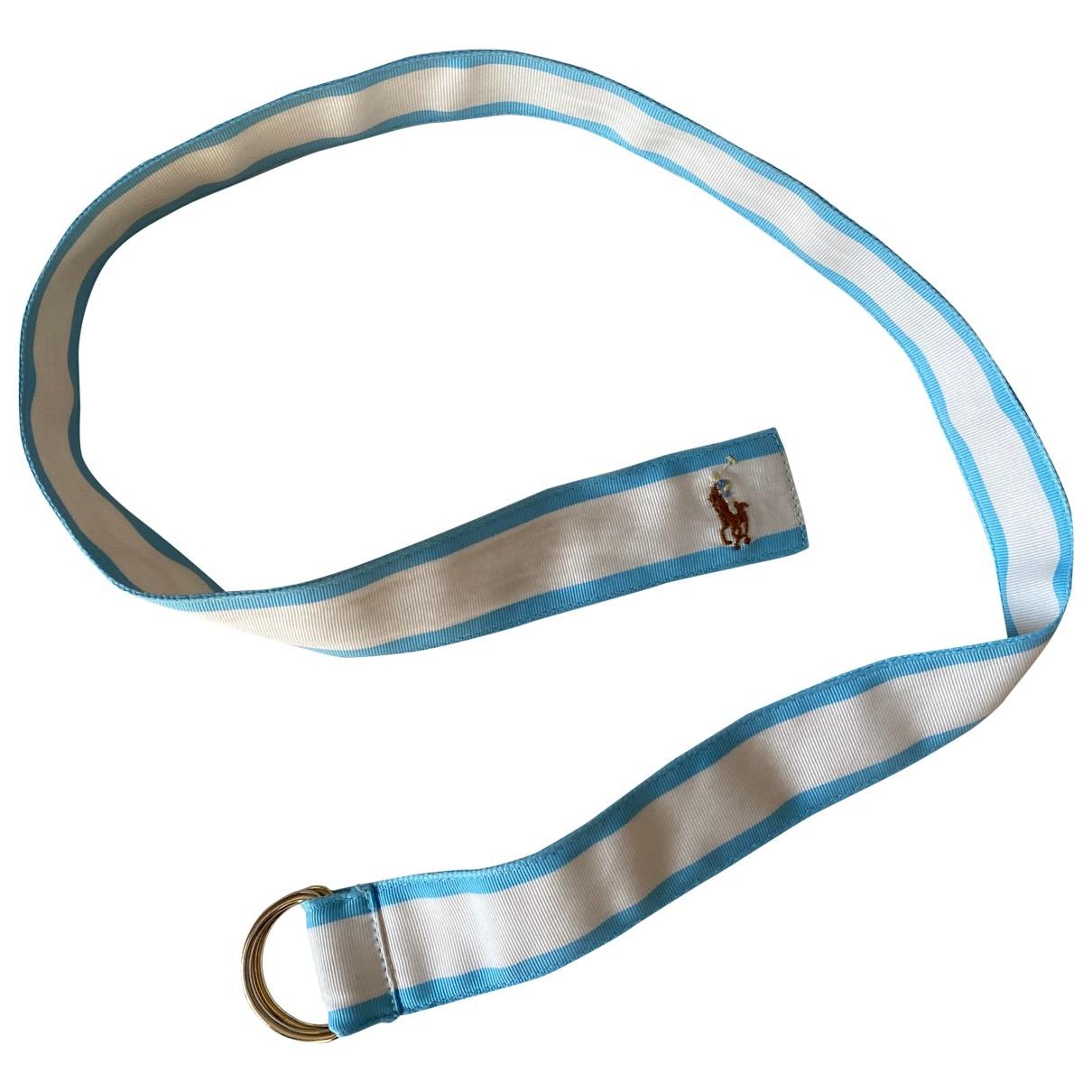 Polo Ralph Lauren \N Guertel in  Blau Leinen