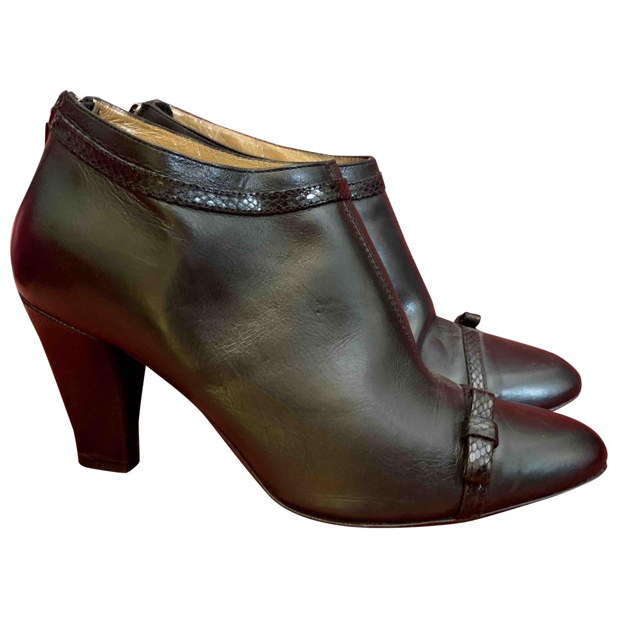 Hobbs - Boots   pour femme en cuir - noir
