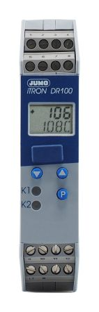 Jumo iTRON PID Temperature Controller, 2 Output Relay, 110  240 V ac Supply Voltage