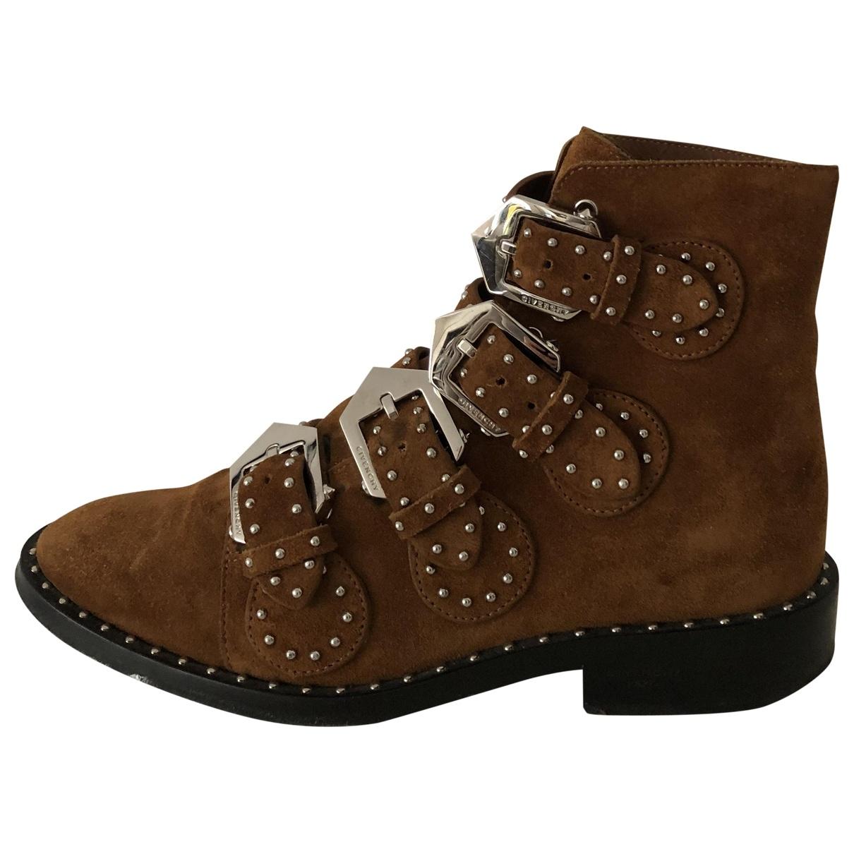 Givenchy - Boots   pour femme en suede - camel