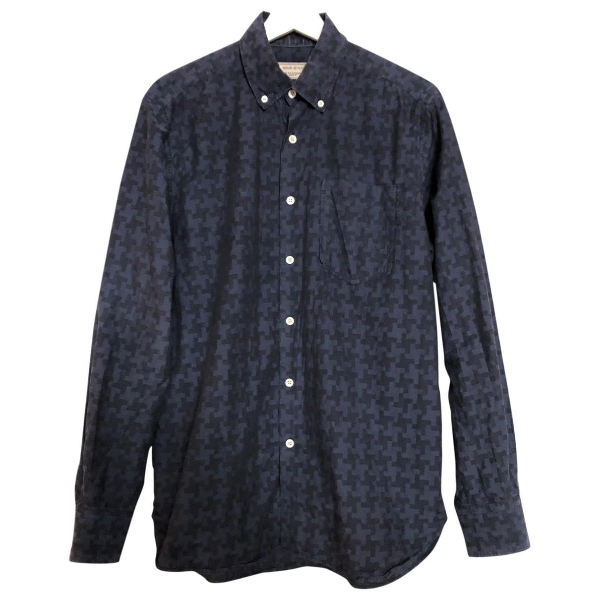 Maison Kitsune \N Hemden in  Marine Baumwolle