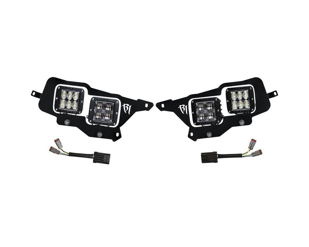 RIGID Industries Headlight Mount Kit Includes 4 D-Series Lights Polaris RZR XP1000 2014-2015