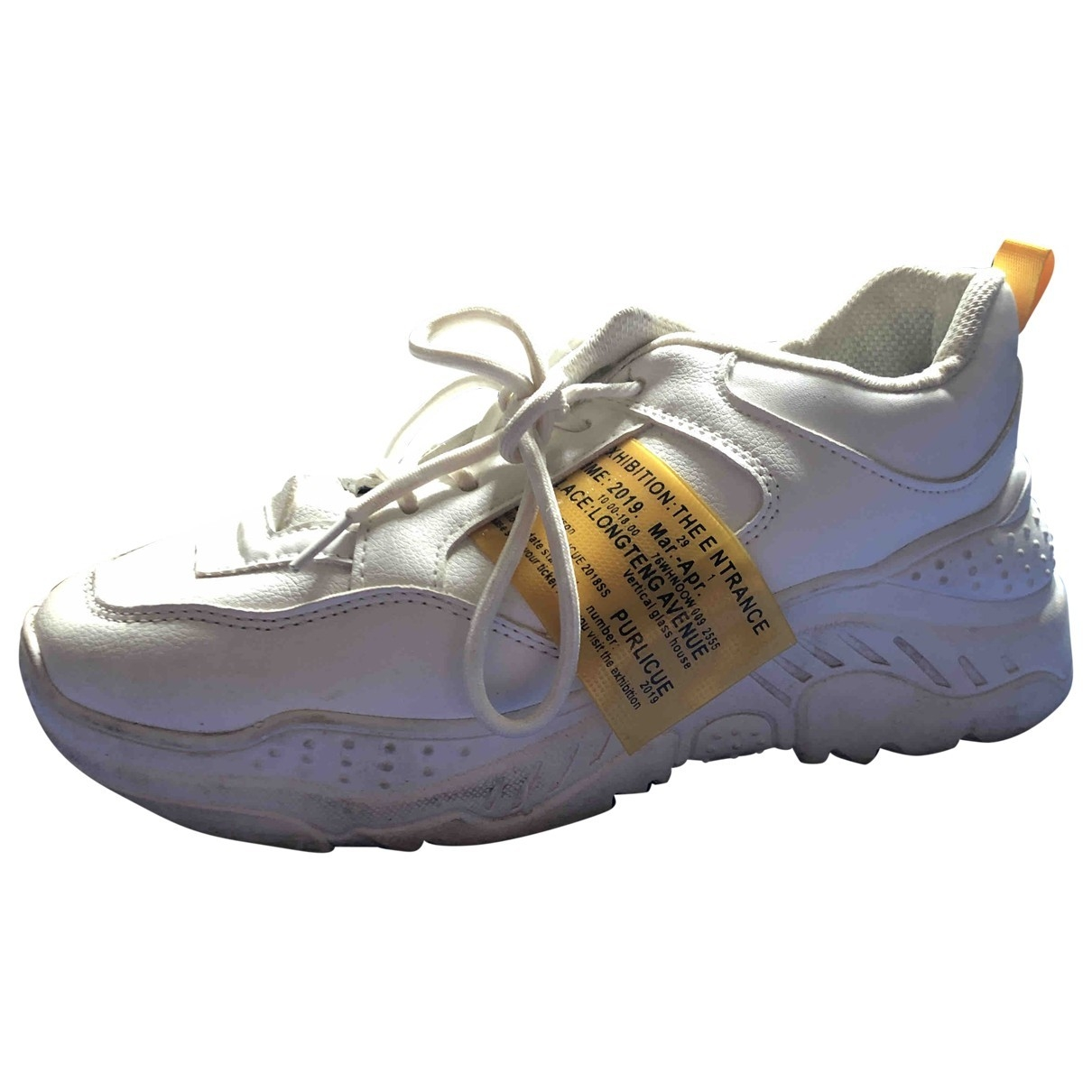 Non Signé / Unsigned \N White Rubber Trainers for Women 39 EU