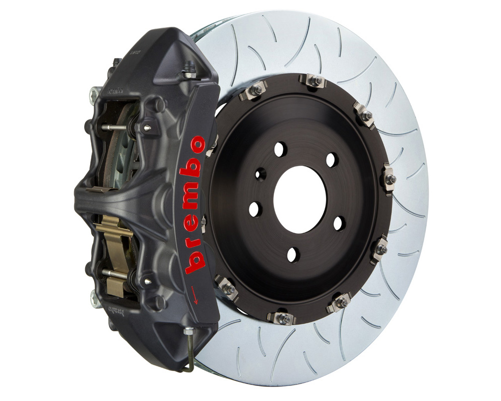 Brembo GT-S 405x34 2-Piece 6 Piston Hard Anodized Slotted Type-3 Front Big Brake Kit