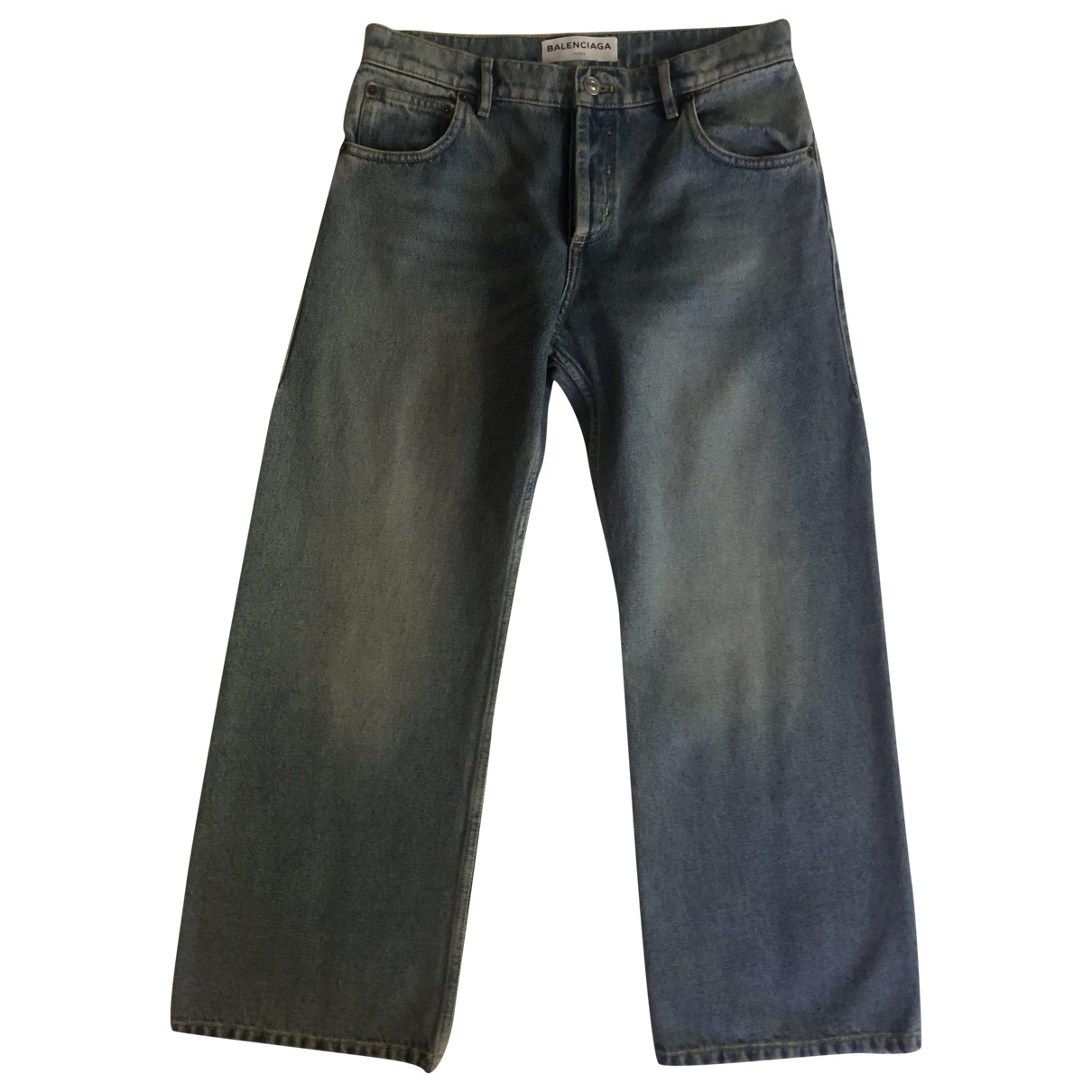 Balenciaga \N Blue Cotton Jeans for Women 26 US