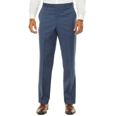 Stafford Super Stretch Classic Fit Suit Pants, 36 32, Blue