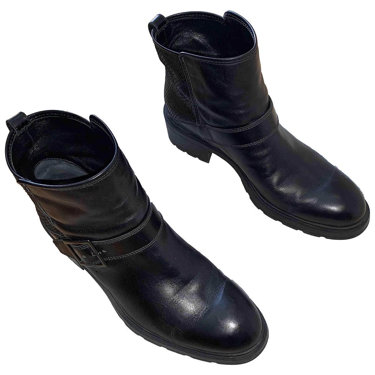Botas moteras de Cuero Hogan