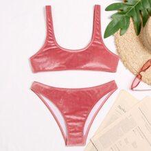 Velvet Bikini Swimsuit