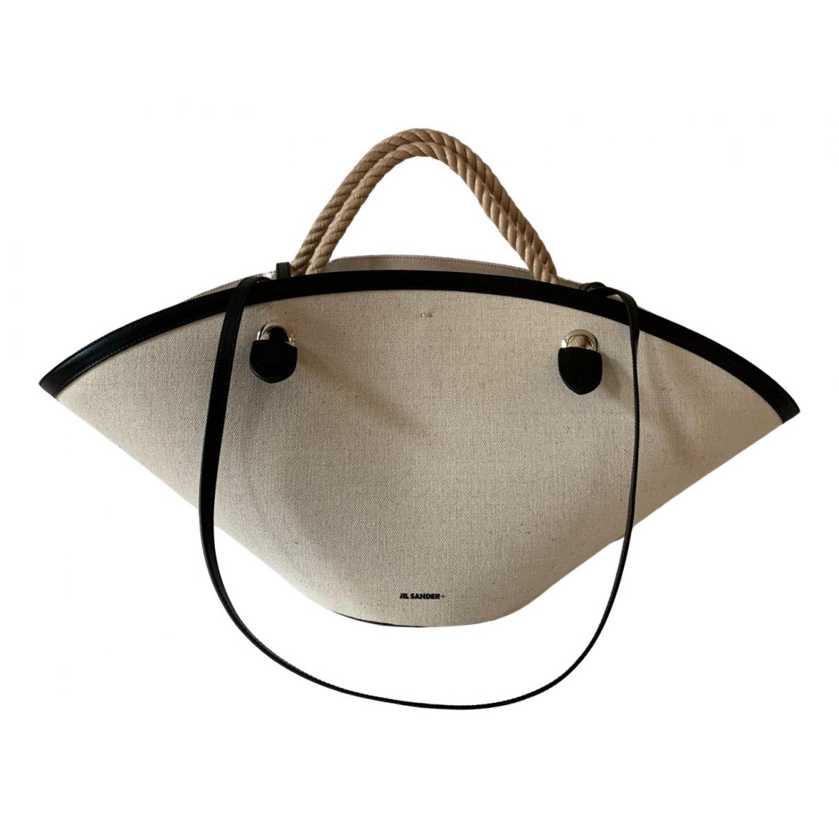 Jil Sander Shopper Ecru Cloth handbag for Women \N