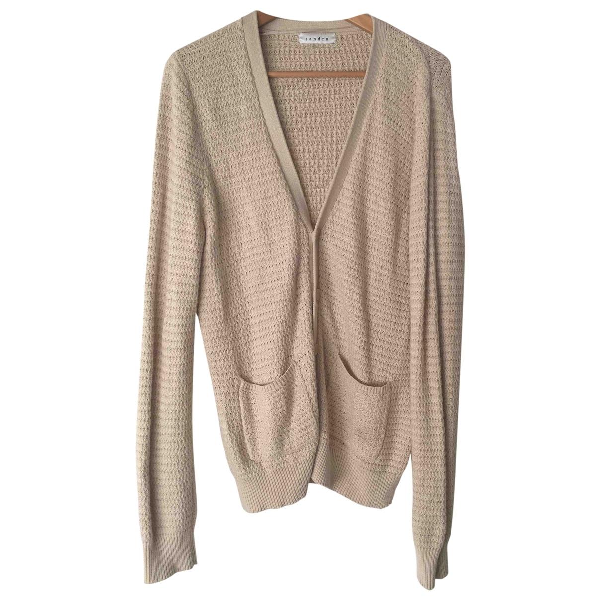 Sandro \N Beige Cotton Knitwear & Sweatshirts for Men L International