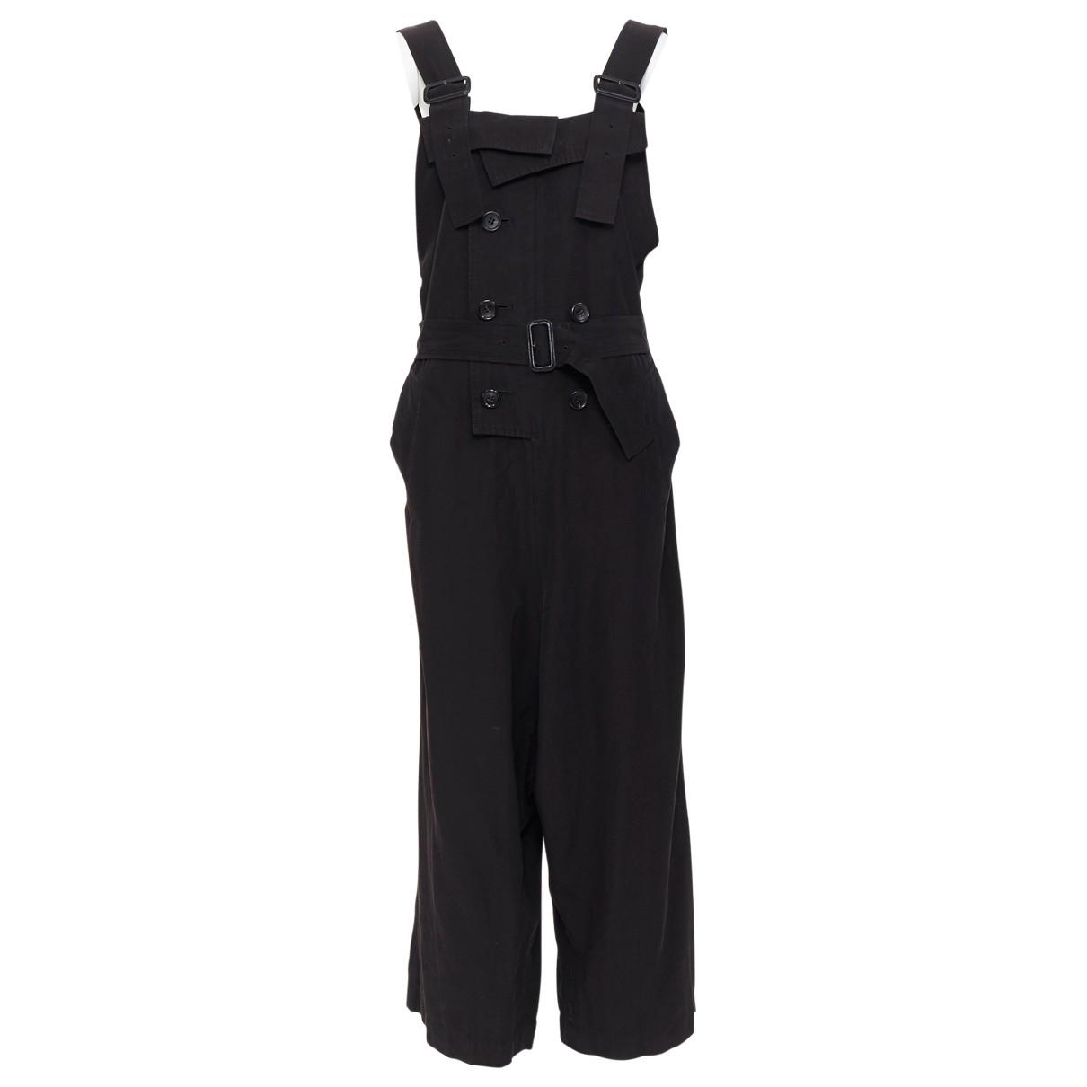 Y's \N Black Leather jumpsuit for Women 6 US
