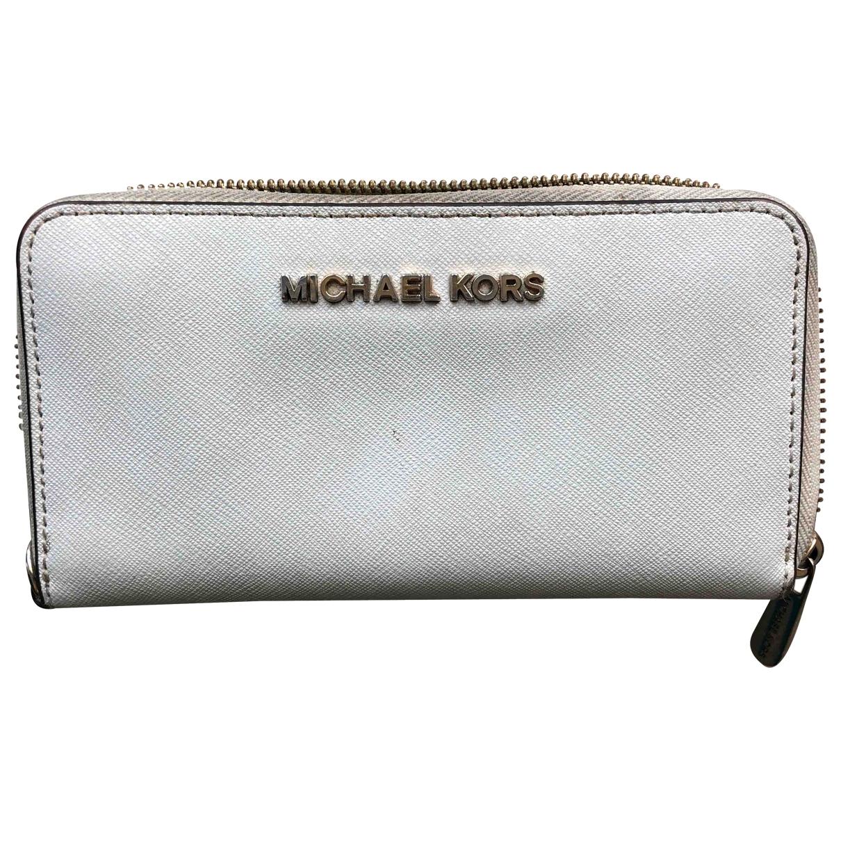 Michael Kors - Portefeuille Jet Set pour femme en cuir - blanc